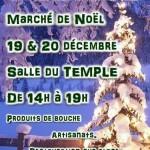Le marché de Noël, c'est salle du Temple !