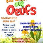 Chasse aux oeufs : rendez-vous dimanche 16 avril