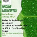 Atelier de Sophrologie – Samedi 20 octobre 2018 de 10H à 12H